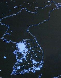 The Korean Peninsula @ Night