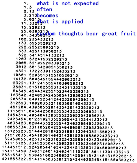 random thoughts bear great fruit